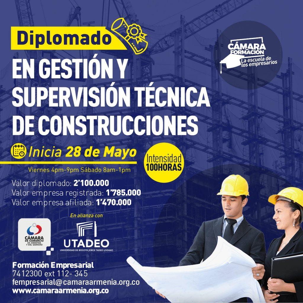 Diplomado en gestión y supervisión técnica de construcciones